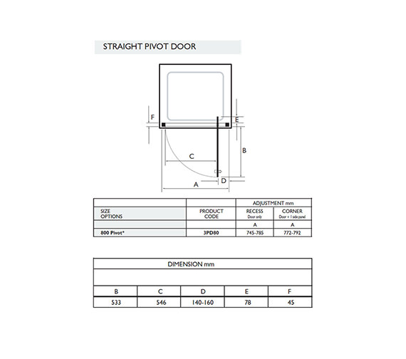 Technical drawing QS-V32041 / 3PD80W