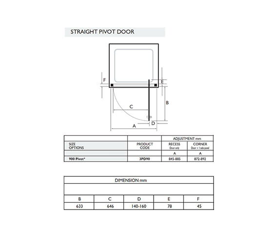 Technical drawing QS-V32043 / 3PD90W