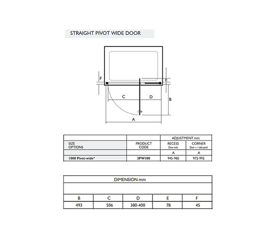 Technical drawing QS-V32045 / 3PW100W