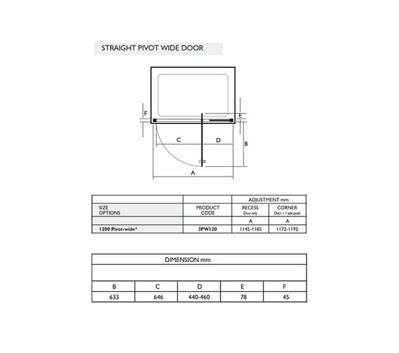 Technical drawing QS-V32046 / 3PW120W