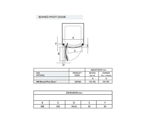 Technical drawing QS-V32050 / 3BPD80W