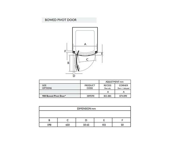 Technical drawing QS-V32053 / 3BPD90W