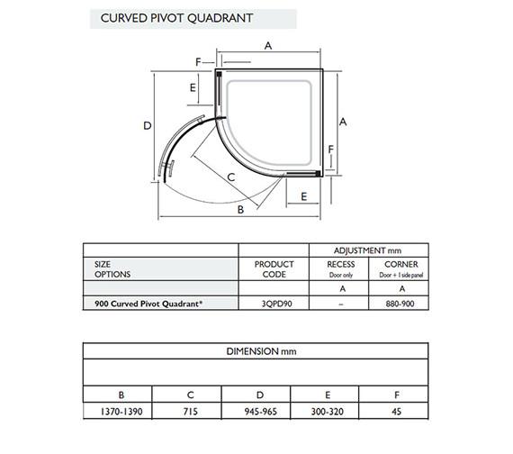 Technical drawing QS-V32058 / 3QPD90W