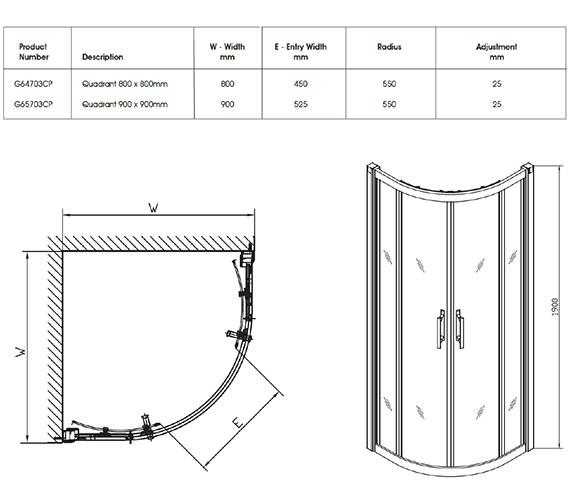 Technical drawing QS-V32063 / G64703CP
