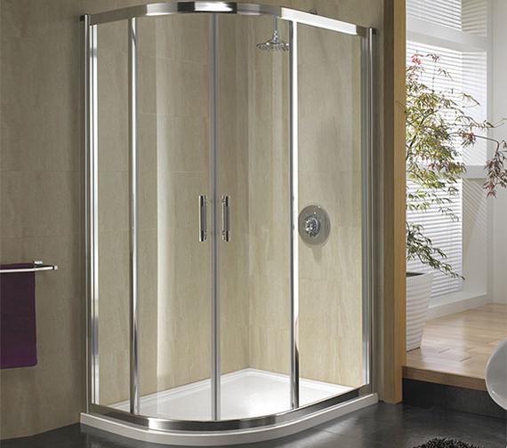 Twyford Geo 6 Offset Double Door Quadrant Shower Enclosure 1200 x 900mm