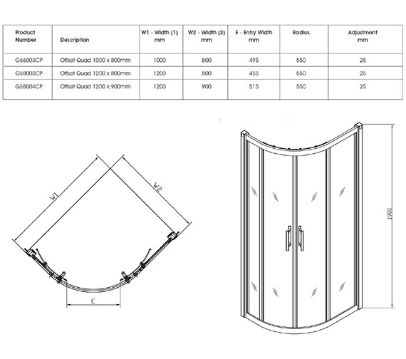 Technical drawing QS-V32066 / G68004CP