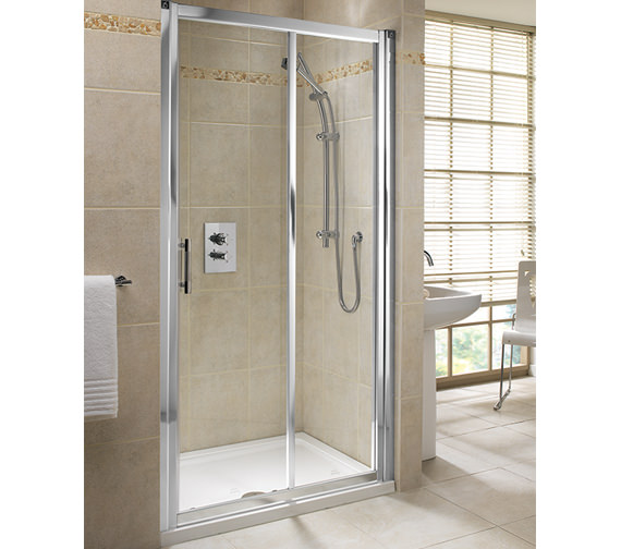Twyford Geo6 Minimalist Sliding Shower Door 1000mm - Left Or Right Hand
