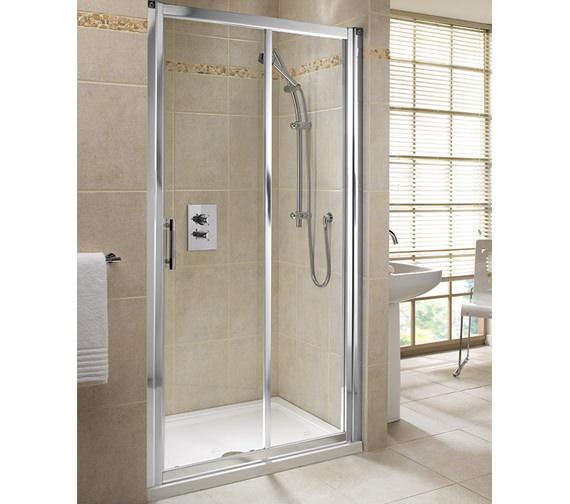 Twyford geo6 sliding shower enclosure door 1000mm g66503cp for 1000mm sliding shower door