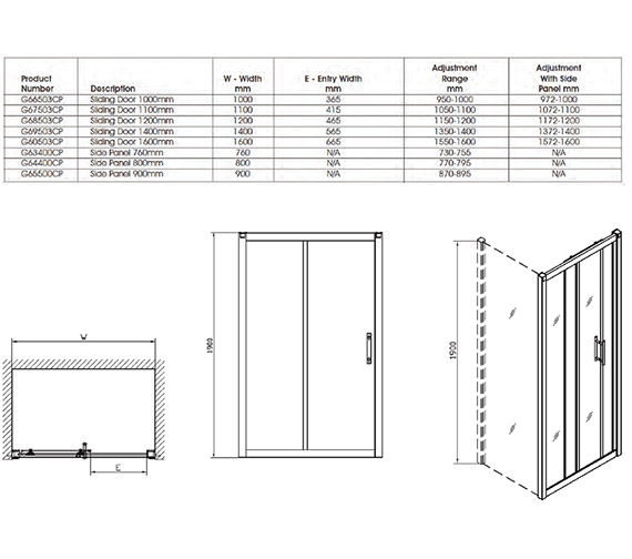 Technical drawing QS-V32067 / G66503CP