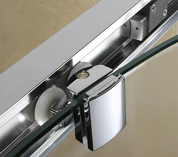 Additional image of Twyford Geo6 Sliding Shower Enclosure Door 1000mm - G66503CP