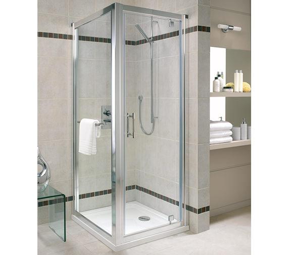Twyford Geo6 Pivot Shower Enclosure Door 760mm - G63100CP