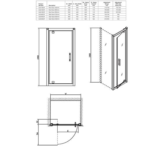 Technical drawing QS-V32071 / G65100CP