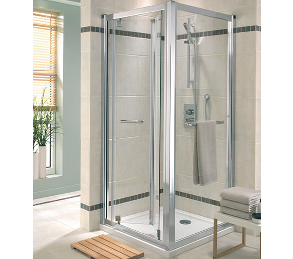 Twyford Geo6 Bi-Fold Shower Enclosure Door 900mm - G65200CP