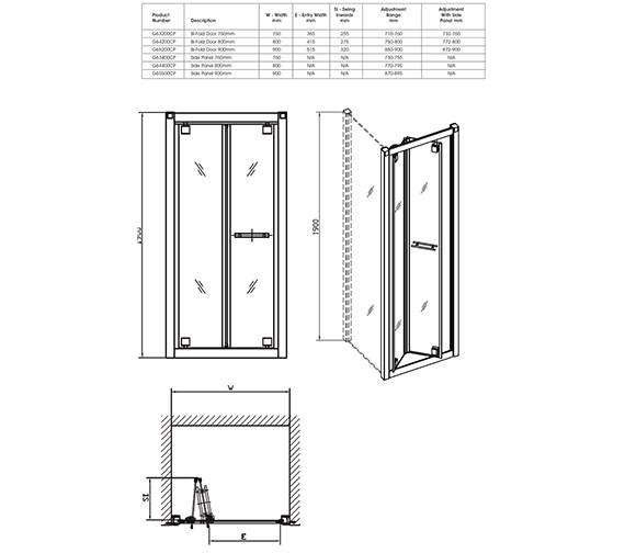Technical drawing QS-V32074 / G65200CP