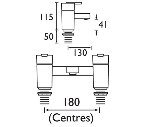 Technical drawing QS-V320 / QU BF C