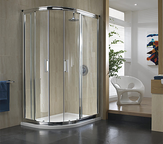 Twyford Hydr8 Offset Quadrant Shower Enclosure 900 x 760mm