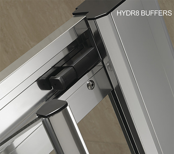 Image 3 of Twyford Hydr8 Offset Quadrant Shower Enclosure 1200 x 800mm