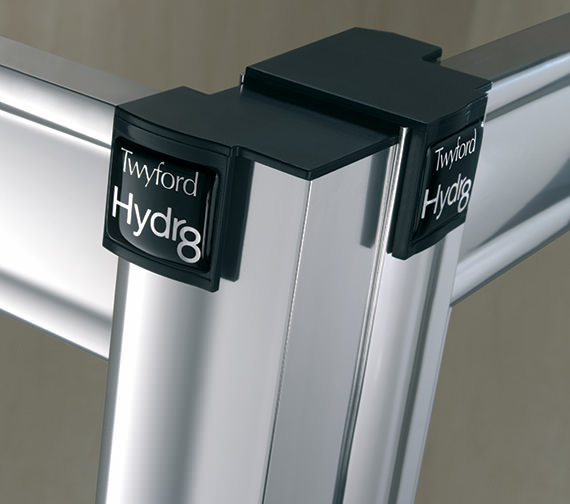 Additional image of Twyford Hydr8 In-fold Shower Enclosure Door 800mm - H84900CP