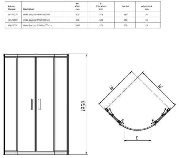 Technical drawing QS-V32107 / H84700CP