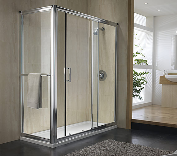 Twyford Hydr8 Sliding Shower Enclosure Door 1400mm - H89500CP