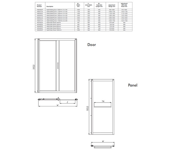 Technical drawing QS-V35074 / H89500CP