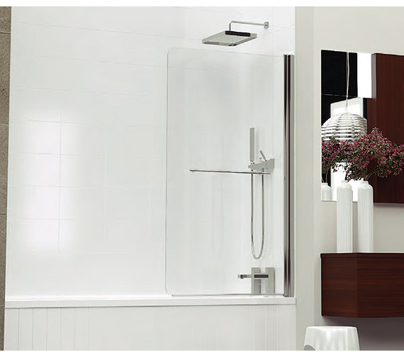 Kudos Inspirational 850mm Silver Frame Bath Screen - 3BASCS
