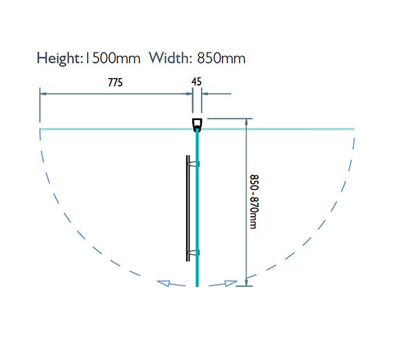 Technical drawing QS-V32116 / 3BASCS