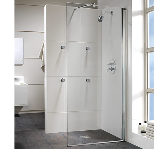 Twyford Hydr8 Walk In Flat Glass Shower Panel 1100mm - H86951CP
