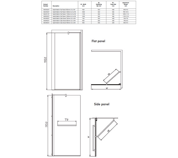 Technical drawing QS-V35079 / H88950CP