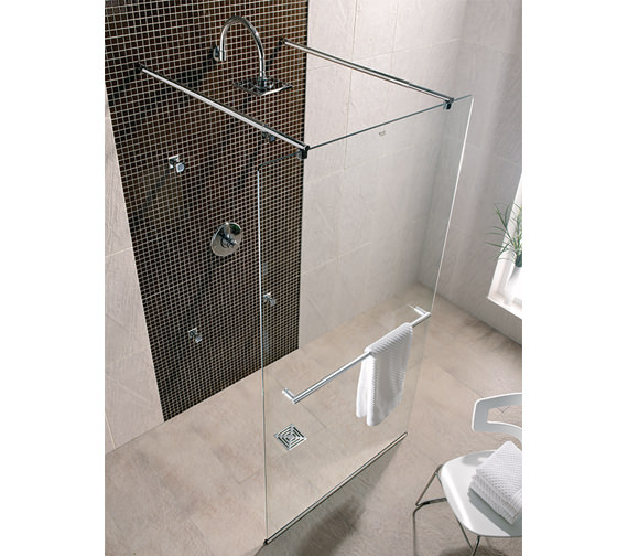 Twyford Hydr8 Walk Through Shower Panel 1000mm - H86910CP