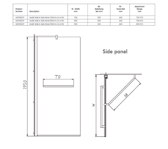 Technical drawing QS-V32120 / H83980CP