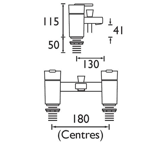Technical drawing QS-V321 / QU BSM C