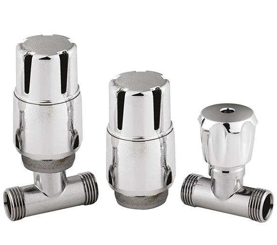 Hudson Reed Straight Thermostatic Radiator Valve Pack - HT325