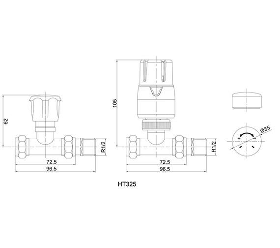 Technical drawing QS-V33362 / HT325