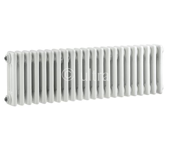 Ultra Colosseum Triple Column 1011 x 300mm White Radiator - HX303