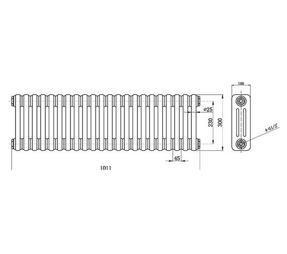 Technical drawing QS-V33393 / HX303