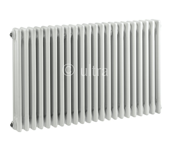 Ultra Colosseum Triple Column 1011 x 600mm White Radiator - HX306