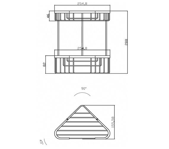 Technical drawing QS-V33440 / LL308