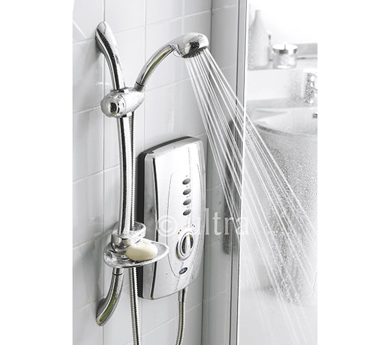 Alternate image of Ultra Chic 650 Slimline 9.5kW Chrome Electric Shower - AX310