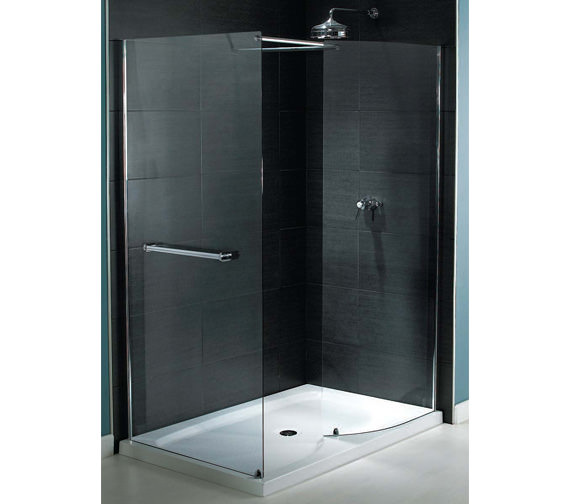 Aqualux Shine Walk In Shower Enclosure 1400 x 800mm - FEN0878AQU