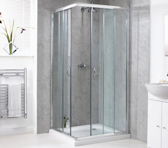 Aqualux Shine Corner Entry Shower Enclosure 900mm - FEN0893AQU