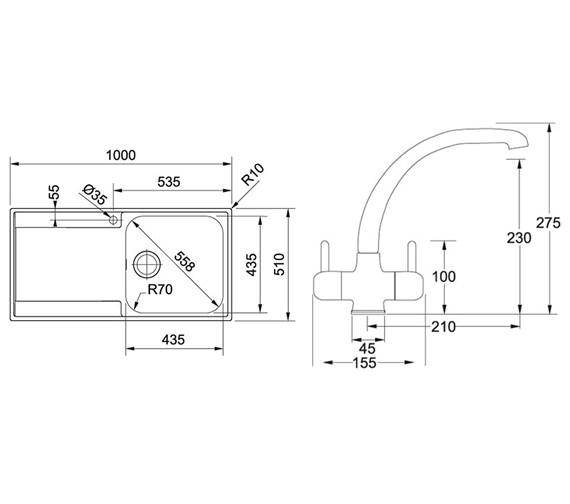 Technical drawing QS-V34197 / 1270251078 BOM