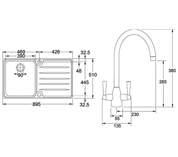 Technical drawing QS-V34201 / 1010066683