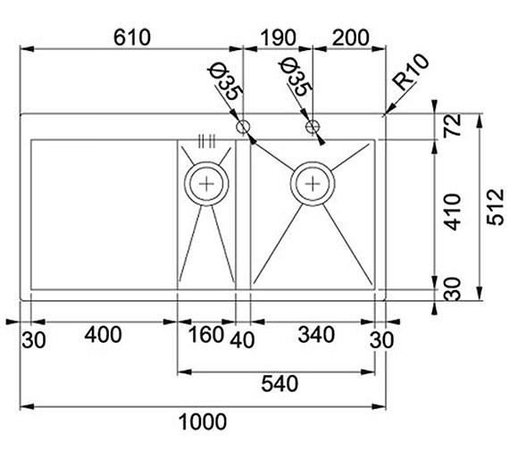 Technical drawing QS-V34204 / 1270203468