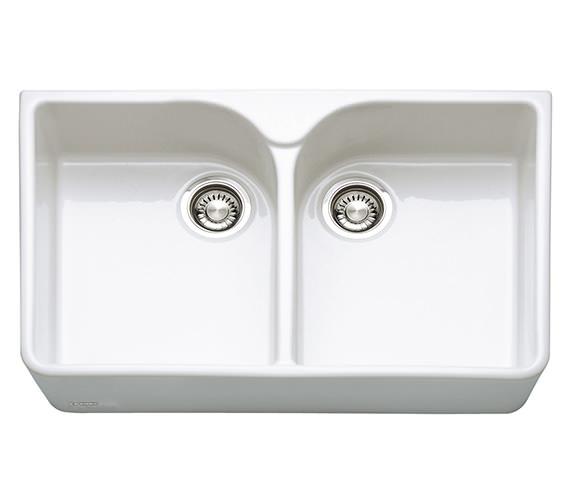 Franke Belfast VBK 720 White Ceramic 2.0 Bowl Kitchen Sink Image
