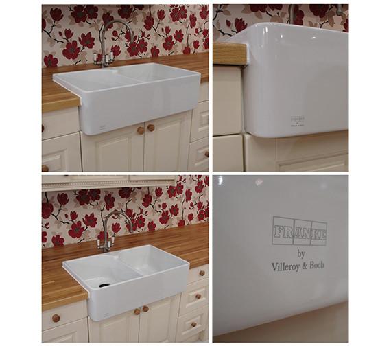 franke belfast vbk 720 white ceramic 2 0 bowl kitchen sink