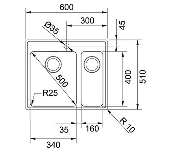 Technical drawing QS-V34256 / 1010364680