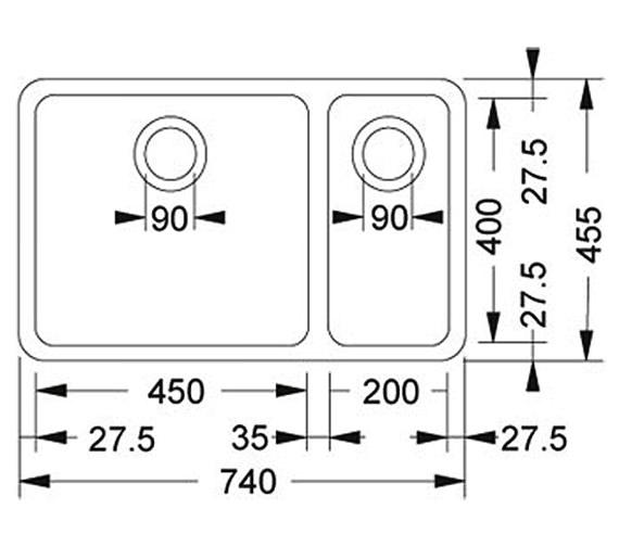 Technical drawing QS-V34260 / 1220033140