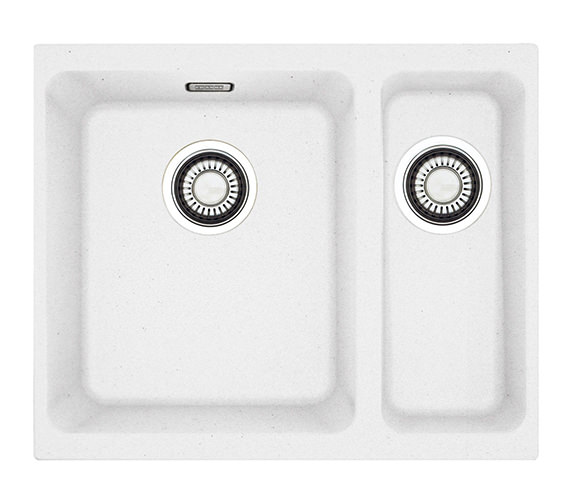 Franke Fragranite Undermount Sink : Franke Kubus KBG 160 Fragranite White 1.5 Bowl Undermount Sink Image