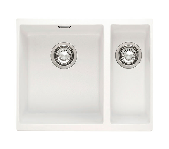 Franke Sirius SID 160 White Tectonite 1.5 Bowl Kitchen Undermount Sink ...